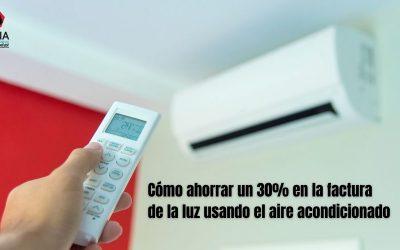 Cómo ahorrar un 30% en la factura de la luz usando el aire acondicionado