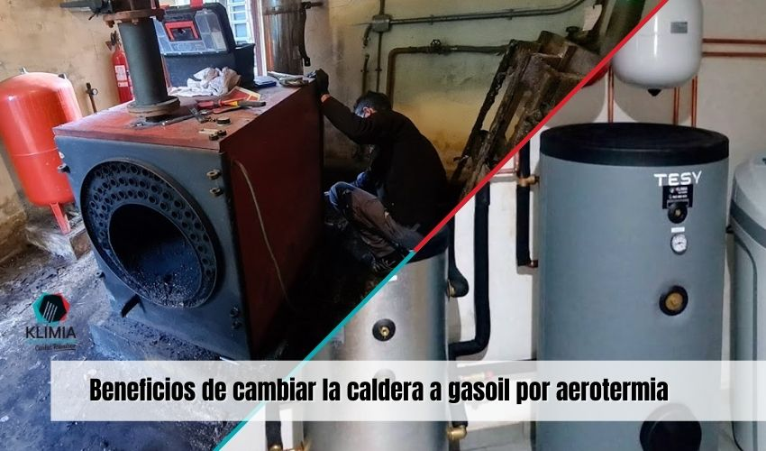 Beneficios de cambiar la caldera a gasoil por aerotermia